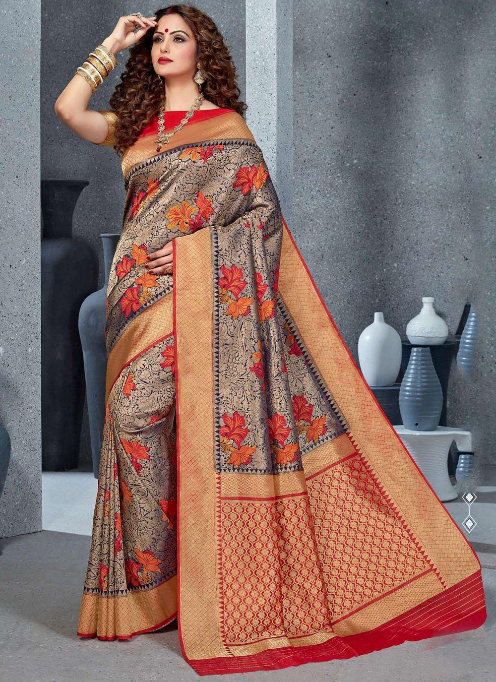 Silk Meenakari Classic Saree