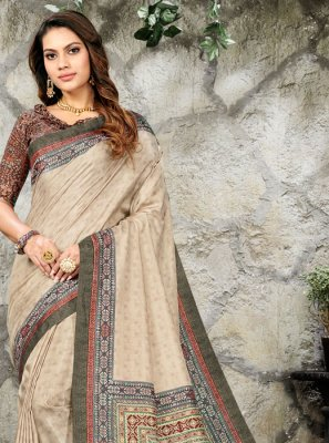 Silk Multi Colour Casual Saree