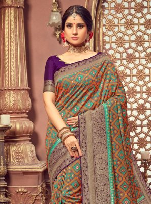 Silk Multi Colour Designer Saree