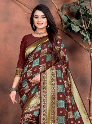 Silk Multi Colour Weaving Classic Saree
