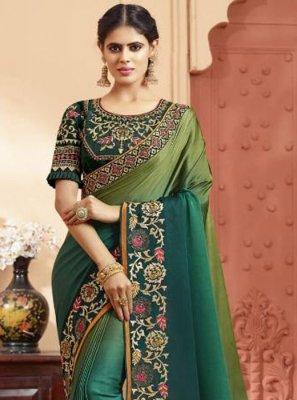 Silk Multi Colour Zari Silk Saree