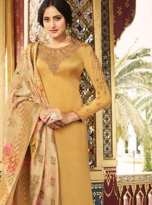 Silk Mustard Salwar Kameez