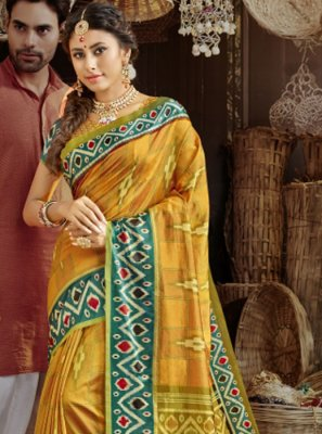 Silk Mustard Saree
