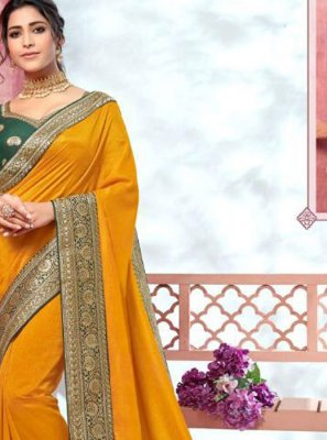 Silk Mustard Trendy Saree
