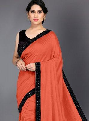 Silk Orange Border Silk Saree
