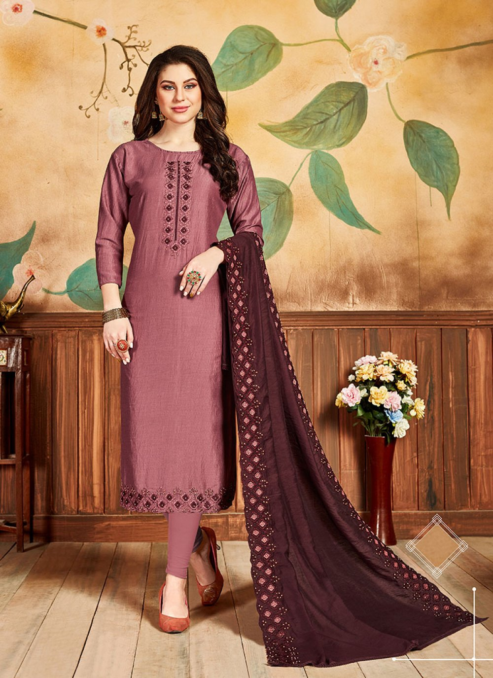 Silk Party Designer Salwar Kameez