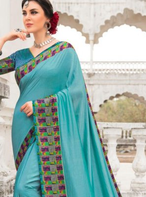 Silk Patch Border Saree