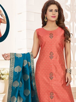 Silk Peach Salwar Suit