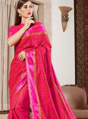 Silk Pink Classic Designer Saree