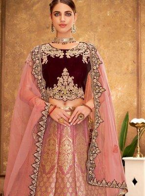 Silk Pink Designer Lehenga Choli