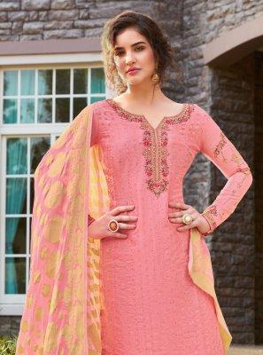 Silk Pink Salwar Kameez