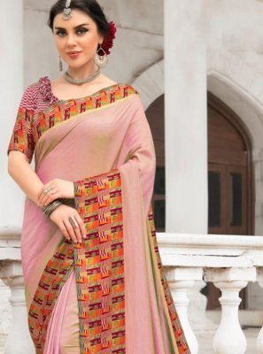 Silk Pink Saree