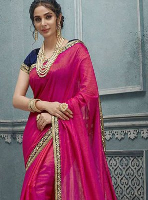 Silk Pink Silk Saree