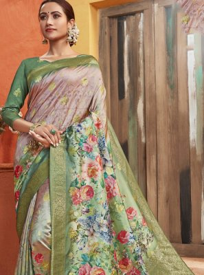 Silk Printed Designer Saree