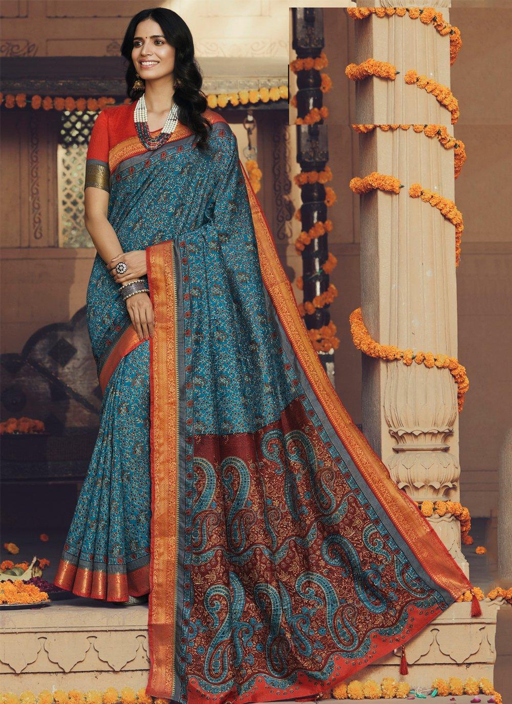 Silk Printed Trendy Saree