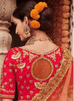 Silk Red Resham A Line Lehenga Choli