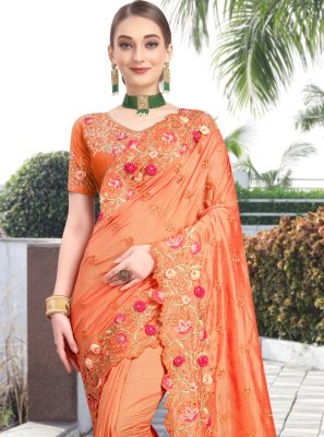 Silk Resham Contemporary Saree