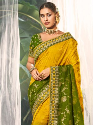 Silk Resham Multi Colour Traditional Saree