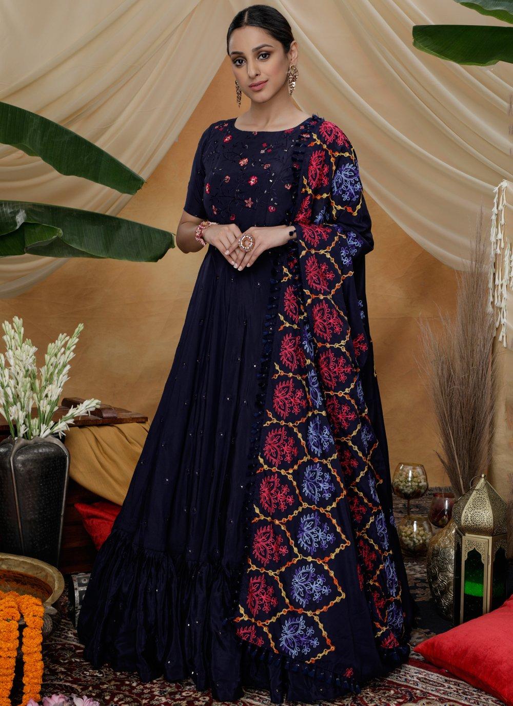 Silk Sangeet Trendy Gown