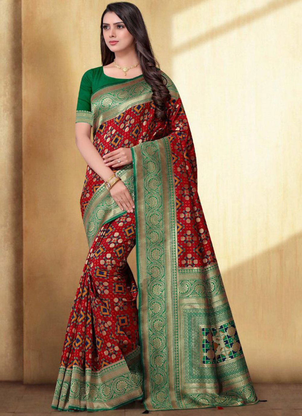 Silk Saree For Mehndi