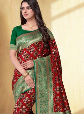 Silk Saree For Mehndi
