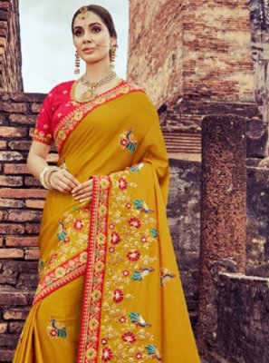 Silk Saree in Mustard