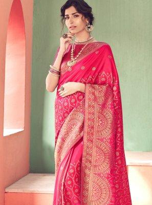 Silk Saree Woven Banarasi Silk in Pink