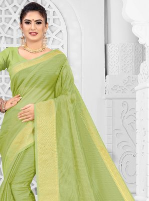 Silk Sea Green Weaving Classic Saree