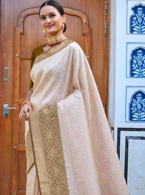 Silk Silk Saree in Brown