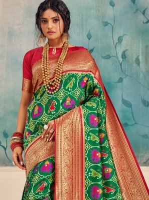 Silk Silk Saree in Green