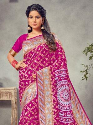 Silk Silk Saree in Pink
