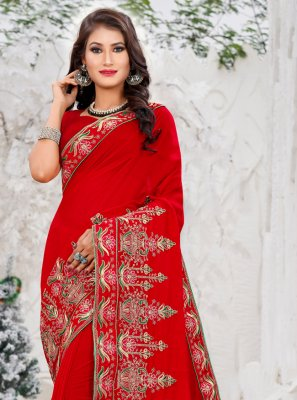 Silk Silk Saree in Red