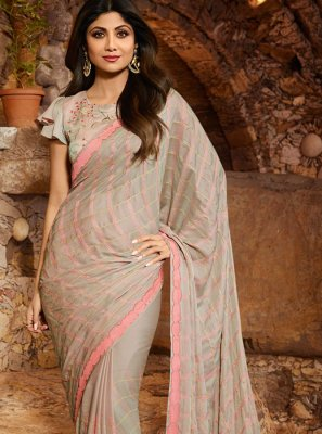 Silk Silver Resham Classic Saree