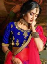 Silk Trendy Lehenga Choli in Blue