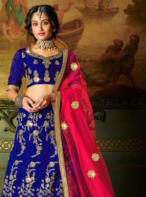 Silk Trendy Lehenga Choli in Blue