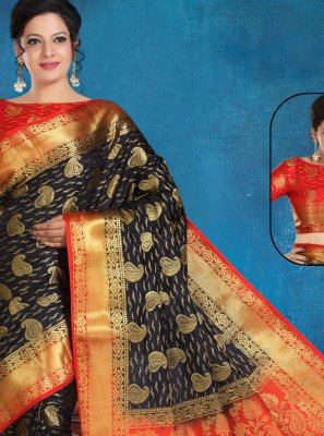 Silk Trendy Saree in Black