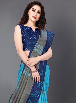 Silk Turquoise Classic Saree