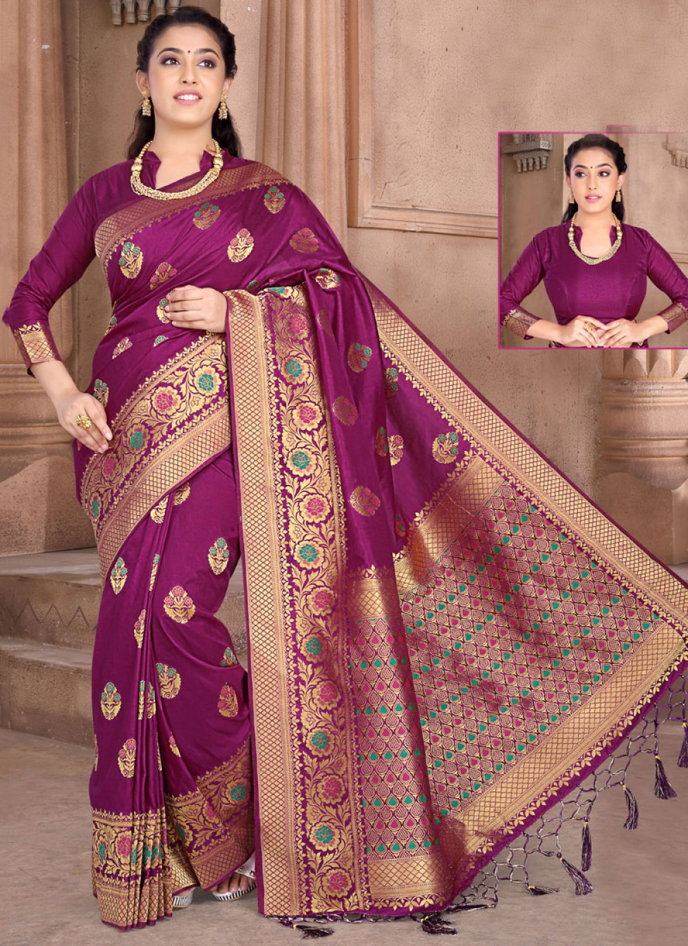 Silk Weaving Classic Designer Saree