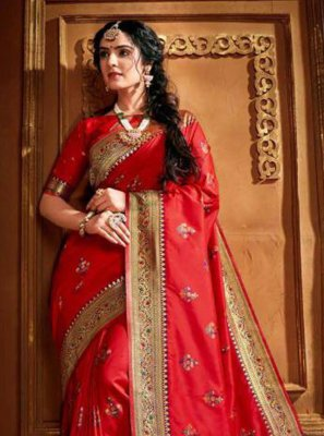 Silk Weaving Classic Saree in Red