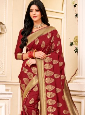Silk Weaving Contemporary Saree