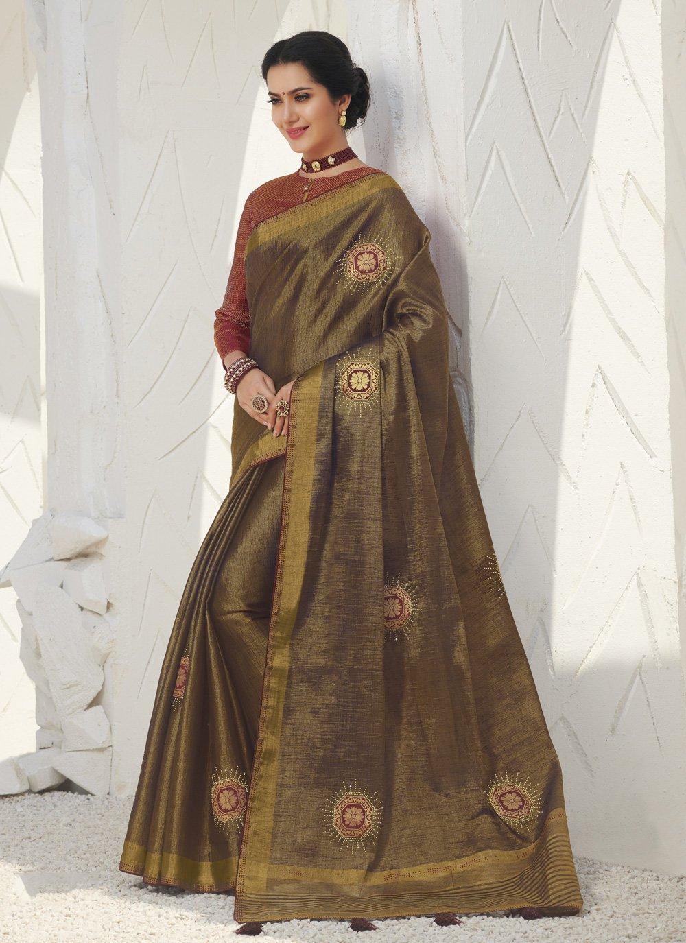 Silk Weaving Gold Classic Saree