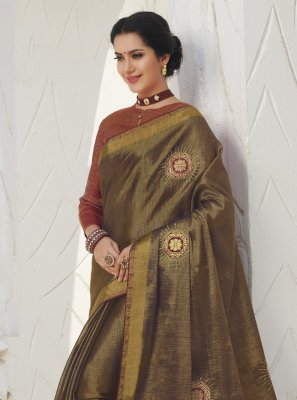 Silk Weaving Gold Classic Saree