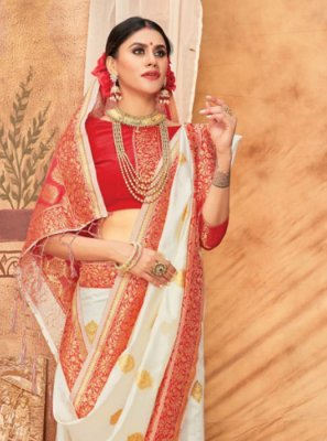 Silk Weaving Multi Colour Classic Saree