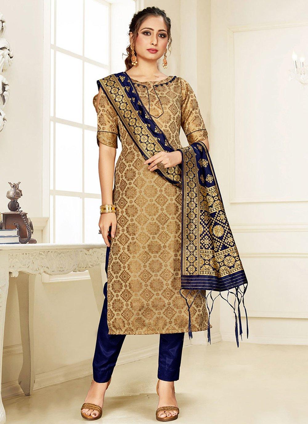 Silk Weaving Multi Colour Designer Suit