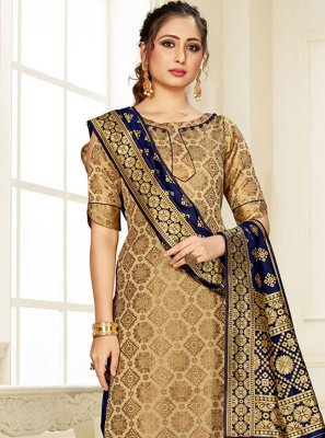 Silk Weaving Multi Colour Designer Suit
