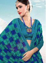 Silk Weaving Multi Colour Trendy Saree