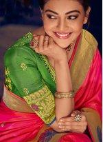 Silk Weaving Pink Classic Designer Saree