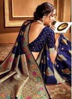 Silk Weaving Silk Saree in Blue