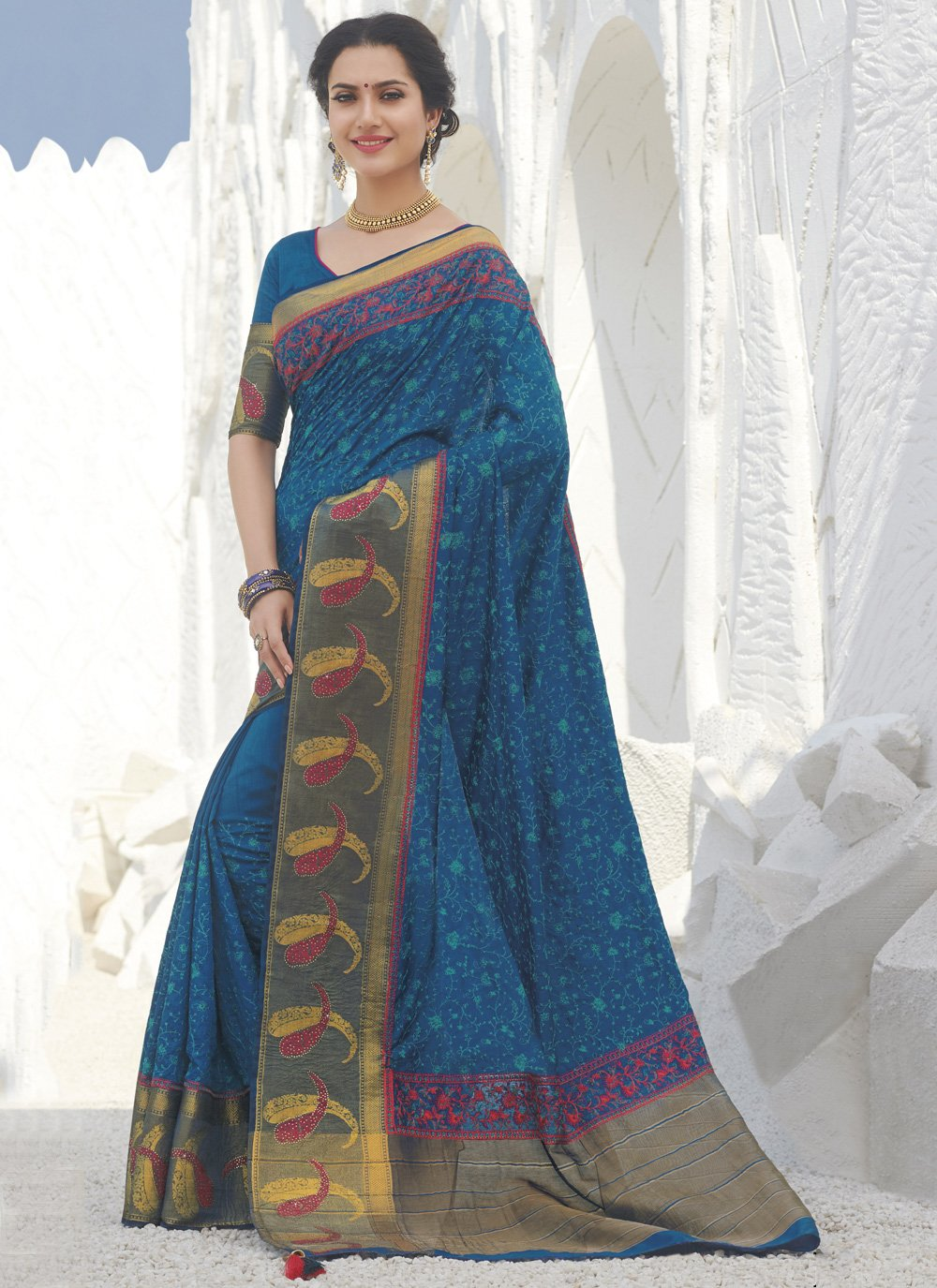 Silk Weaving Traditional Saree