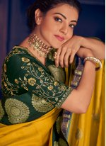 Silk Weaving Yellow Designer Saree